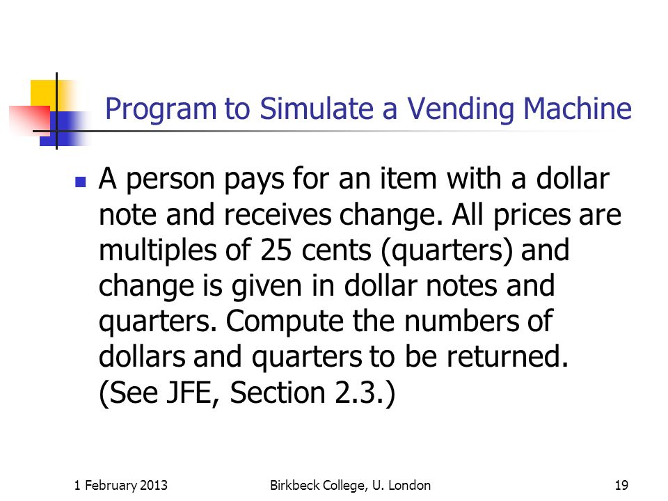Program to Simulate a Vending Machine