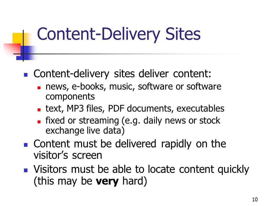 Content-Delivery Sites