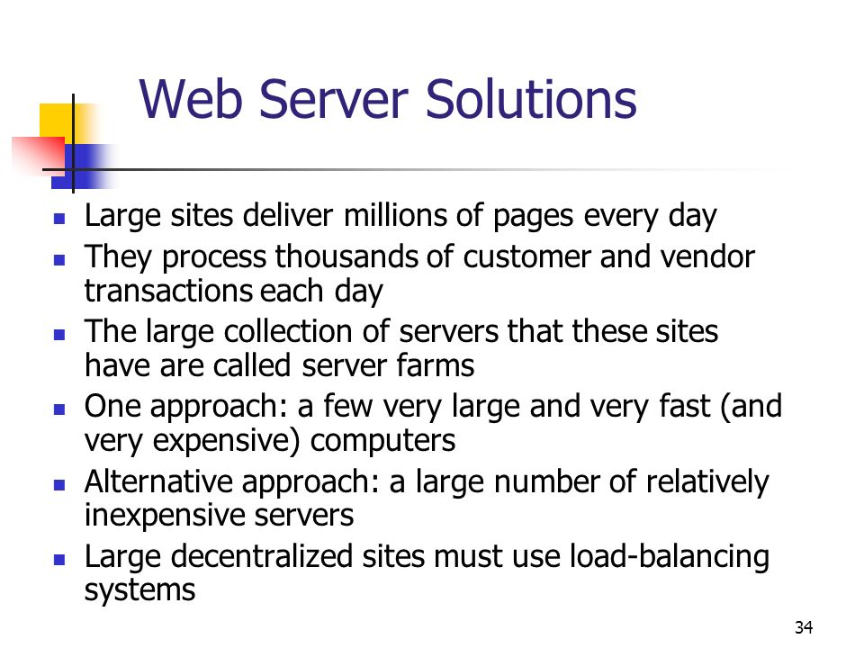 Web Server Solutions Large sites deliver millions of pages every day