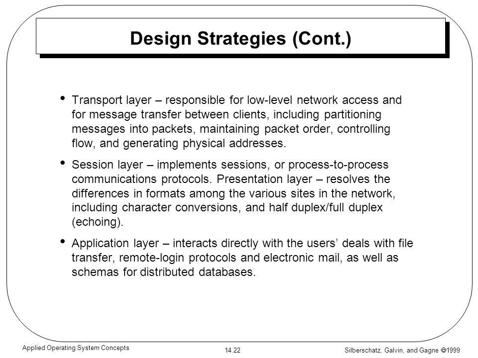 Design Strategies (Cont.)