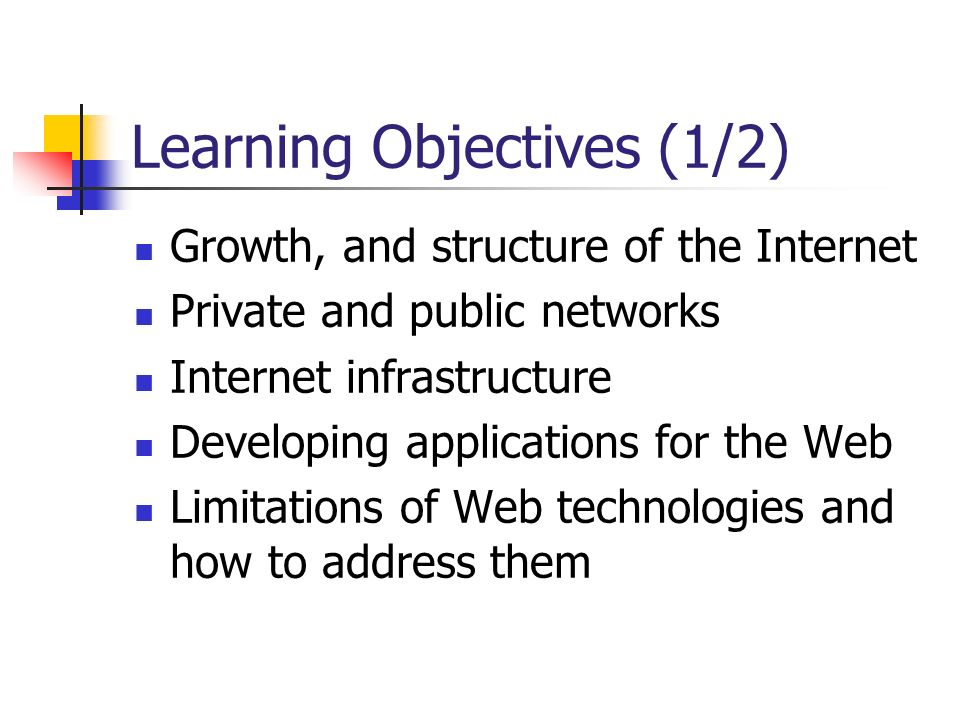 Learning Objectives (1/2)