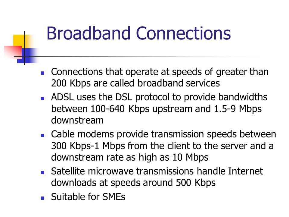 Broadband Connections