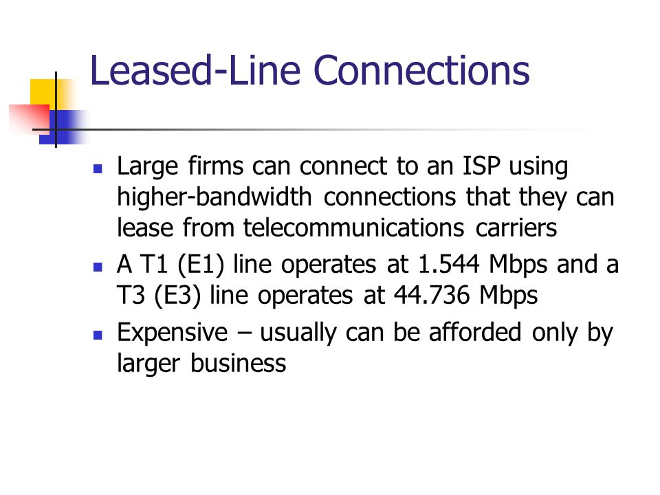 Leased-Line Connections