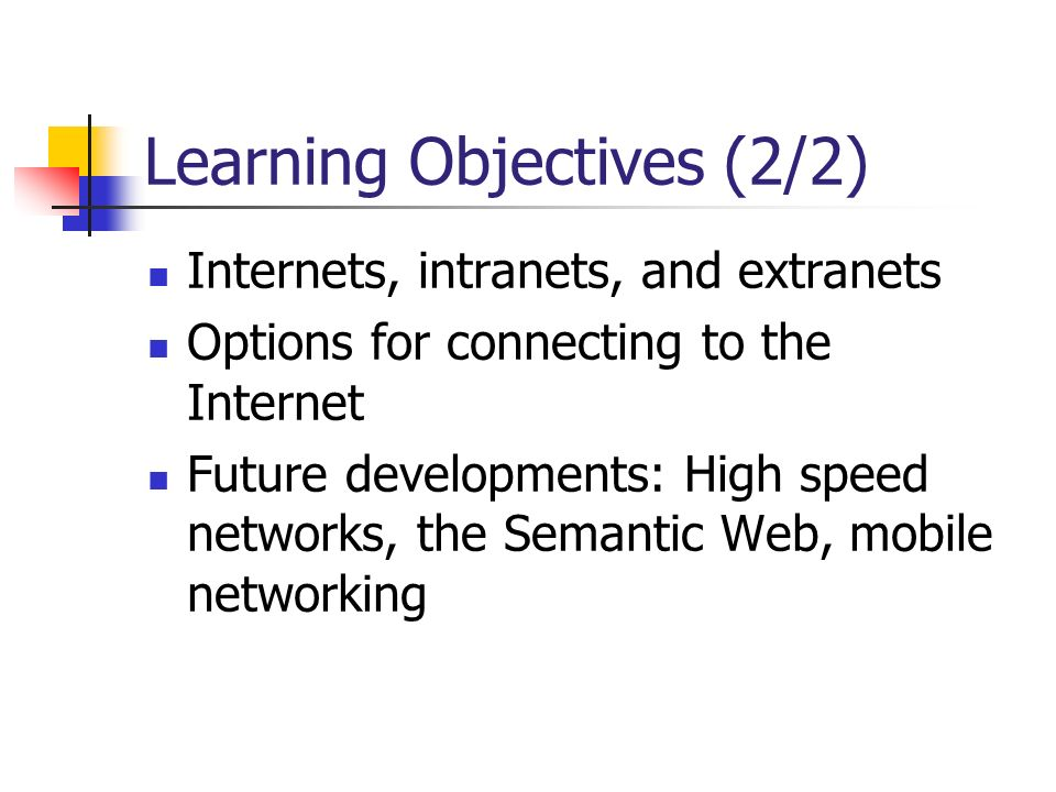 Learning Objectives (2/2)