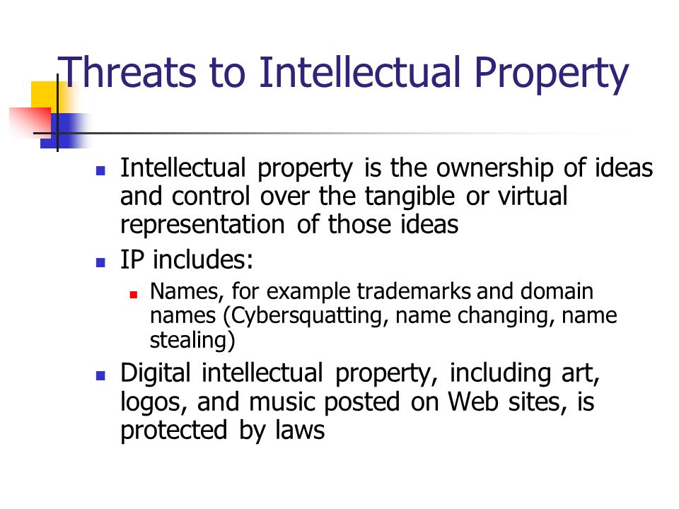 Threats to Intellectual Property