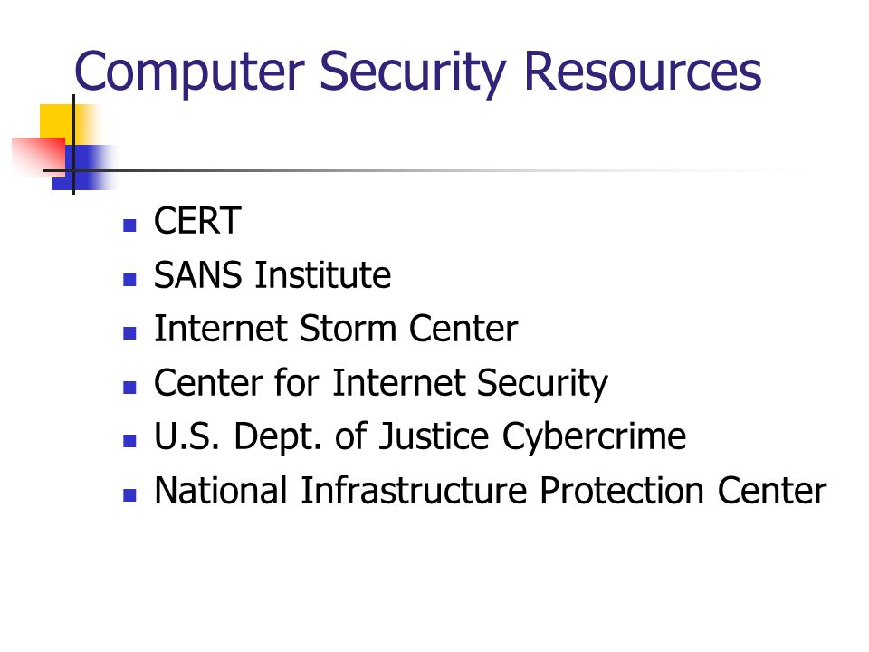 Computer Security Resources
