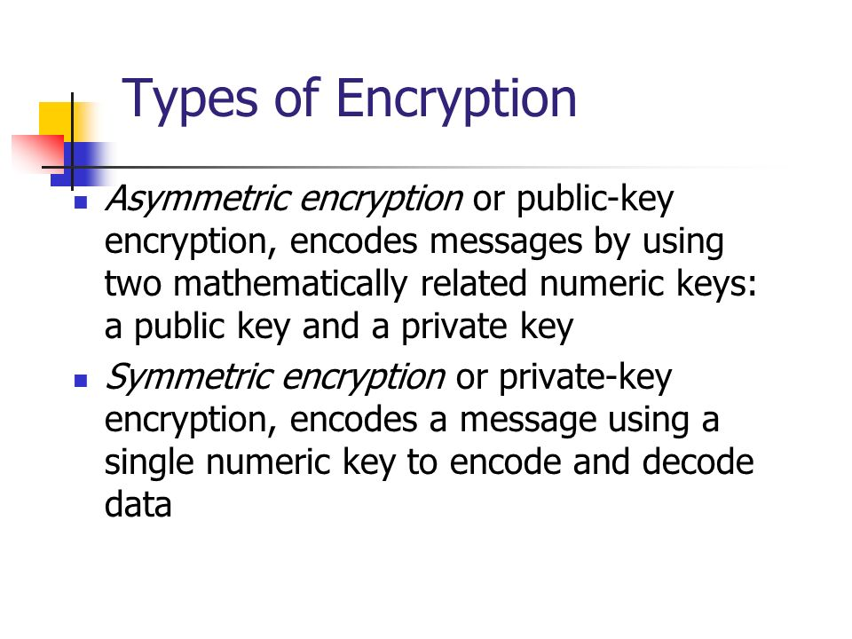 Types of Encryption