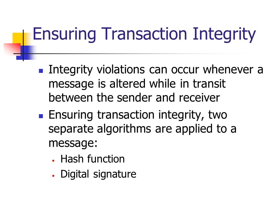 Ensuring Transaction Integrity