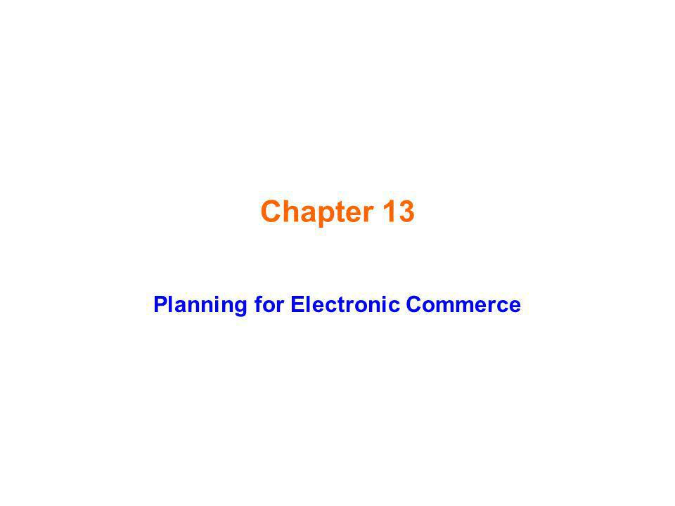 Planning for Electronic Commerce