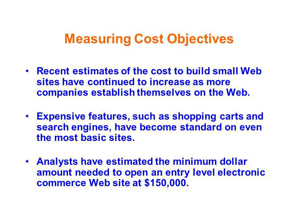Measuring Cost Objectives