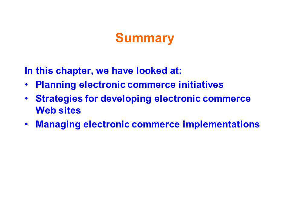 Summary In this chapter, we have looked at: