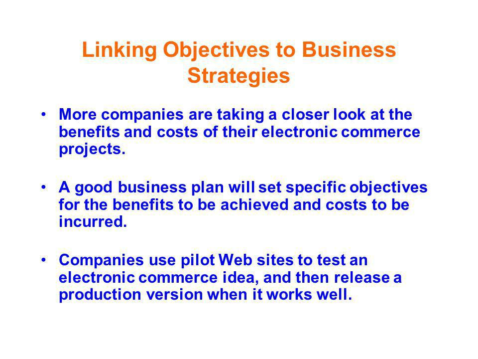 Linking Objectives to Business Strategies