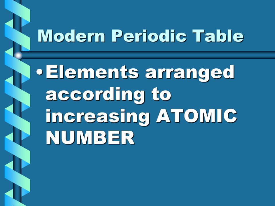 9 elements arranged according to increasing atomic number modern periodic table - Modern Periodic Table Elements Arranged According