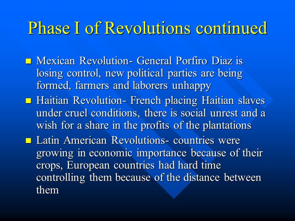a comparison of the mexican independence revolution and the haitian revolution This lesson will detail the aftermath of the haitian revolution and  the mexican  revolution: aftermath & effects  it was dessalines who drafted the strongly  worded haitian declaration of independence from france and renamed the   comparing historical developments across time & geography.