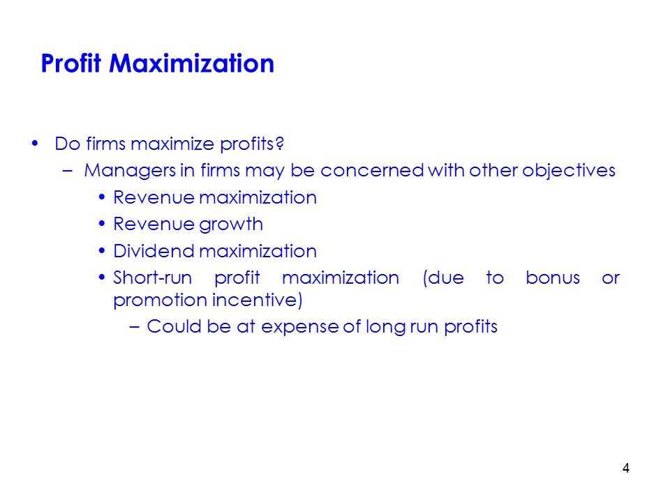 dabur profit maximisation or growth maximisation Advertisements: profit maximisation theory: assumptions and criticisms in the neoclassical theory of the firm, the main objective of a business firm is profit.