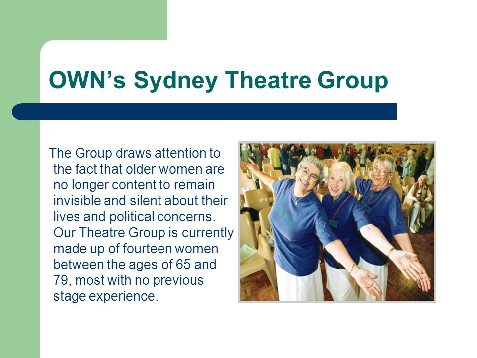 OWN's Sydney Theatre Group