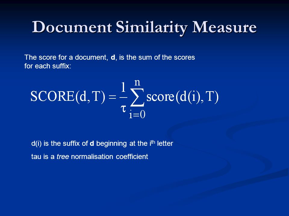 Document Similarity Measure