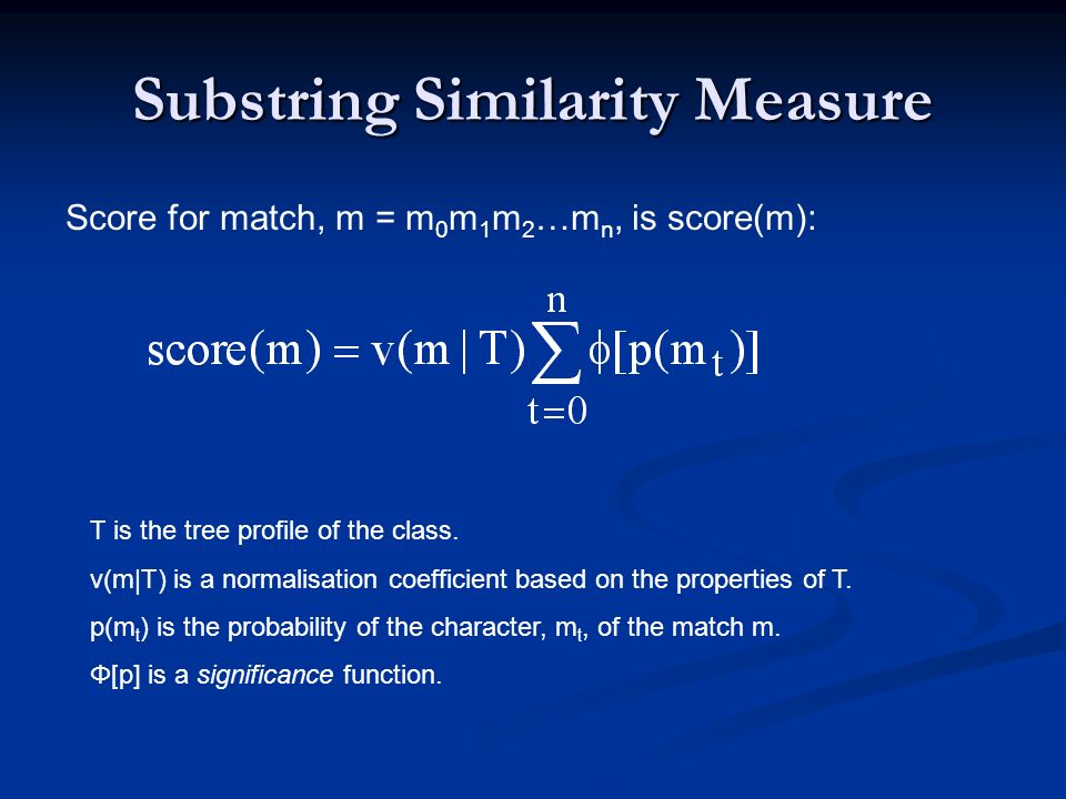 Substring Similarity Measure