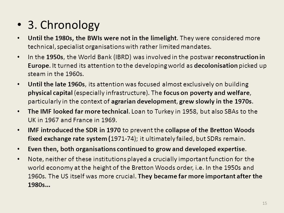 3. Chronology