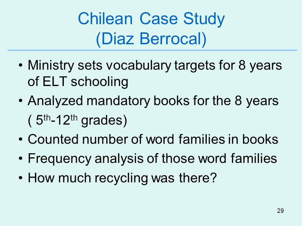 Chilean Case Study (Diaz Berrocal)