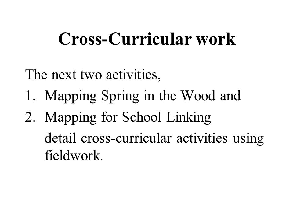 Cross-Curricular work