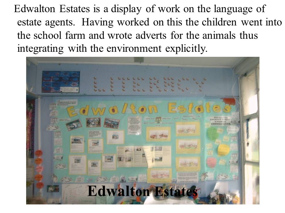 Edwalton Estates is a display of work on the language of estate agents