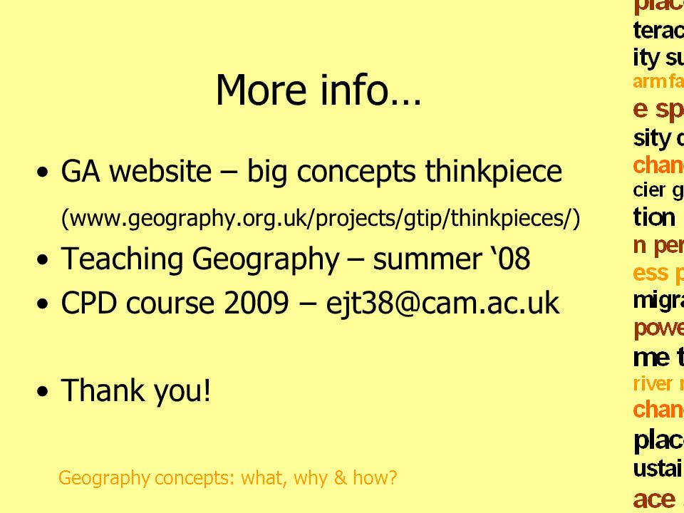 More info… GA website – big concepts thinkpiece