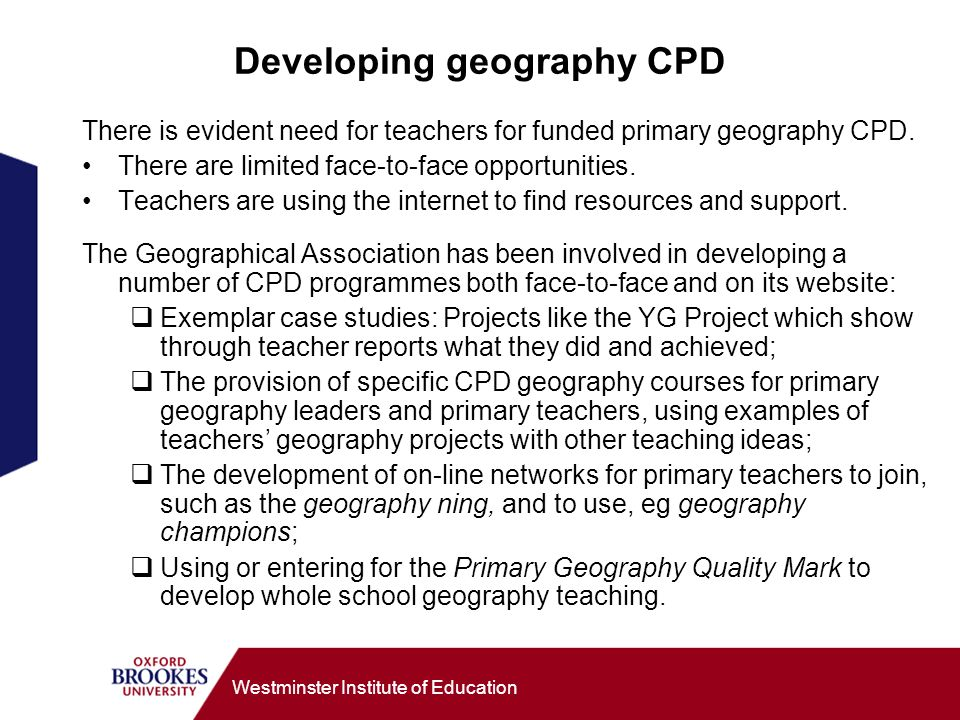 Developing geography CPD