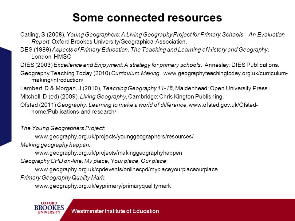 Some connected resources