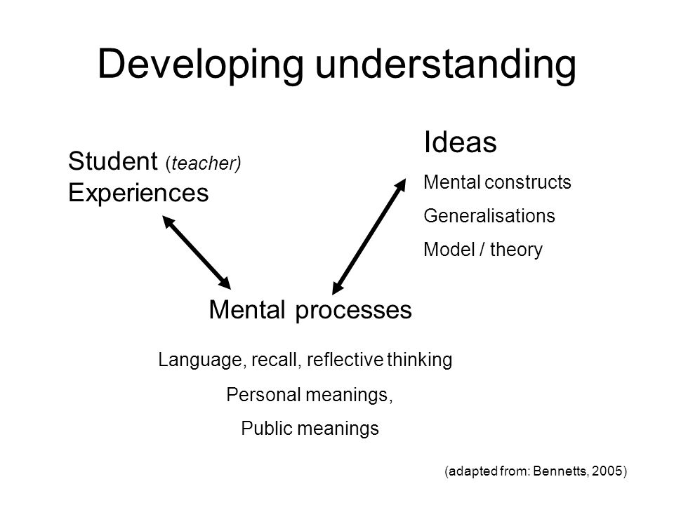 Developing understanding