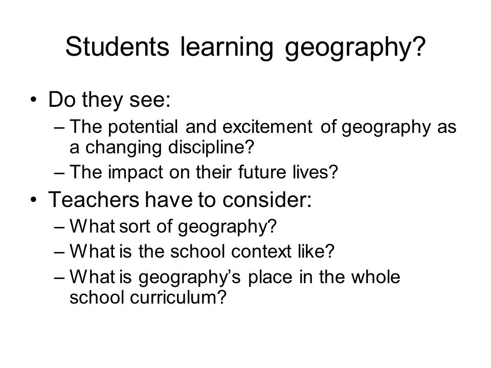 Students learning geography