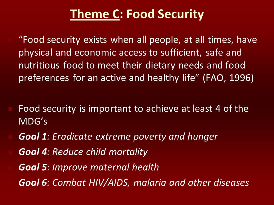 Theme C: Food Security