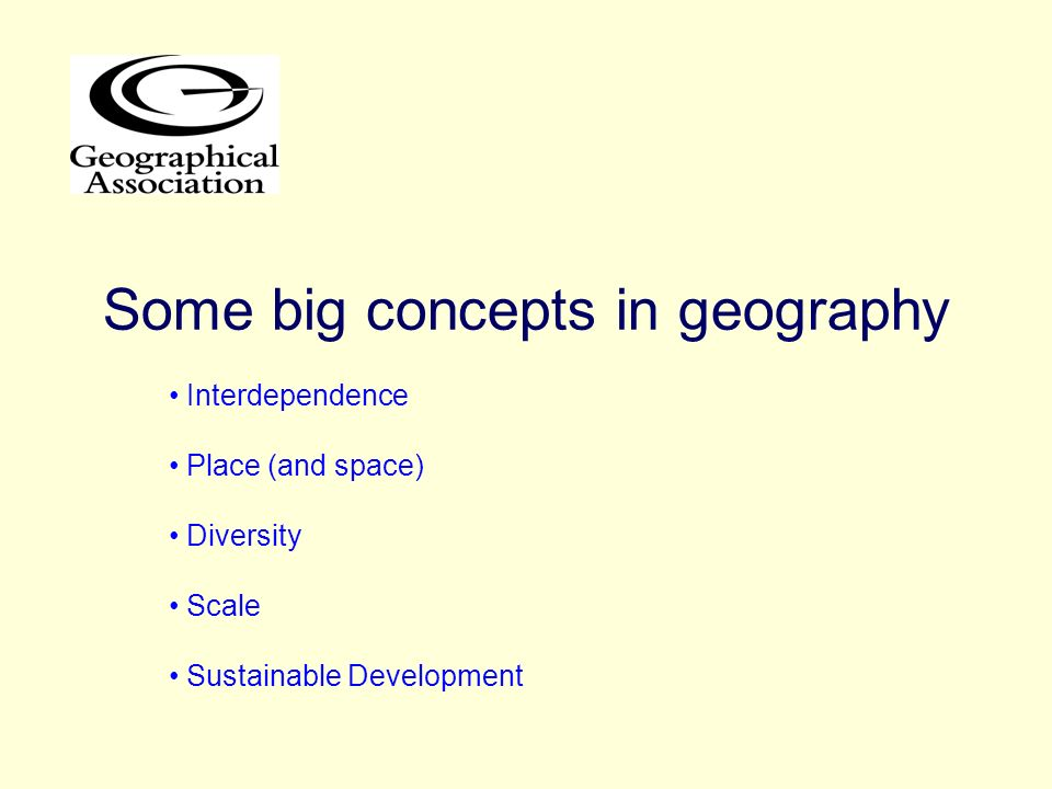 Some big concepts in geography
