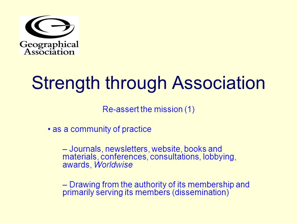 Strength through Association