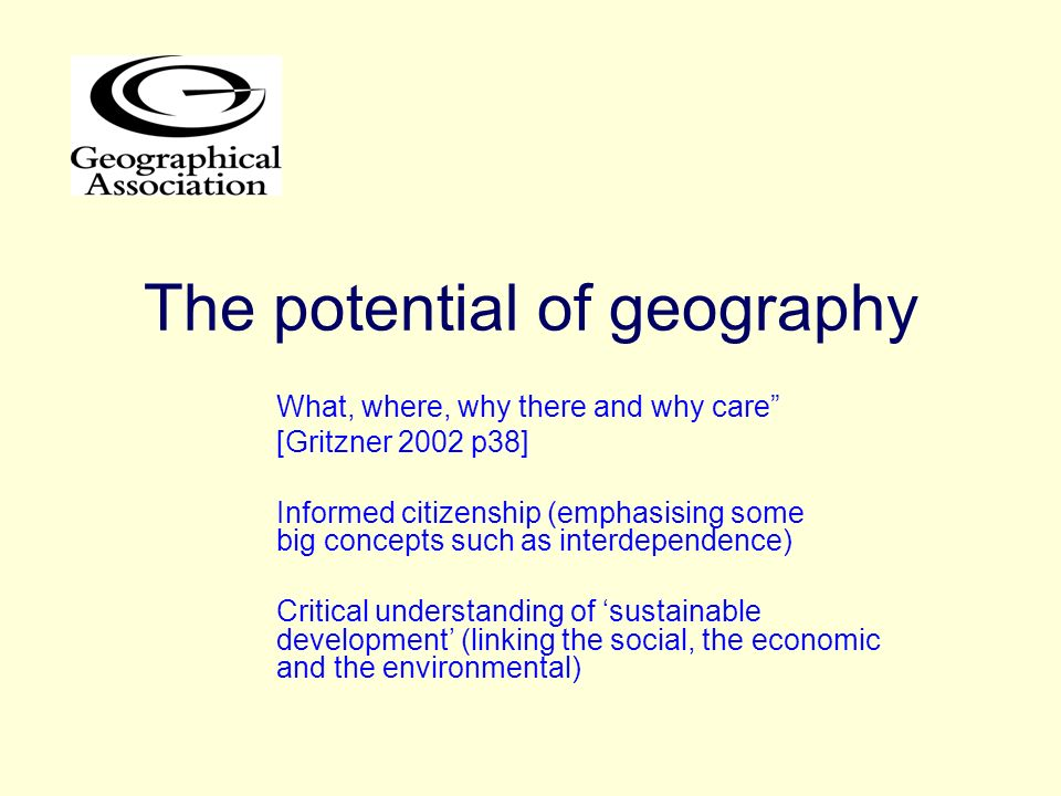 The potential of geography
