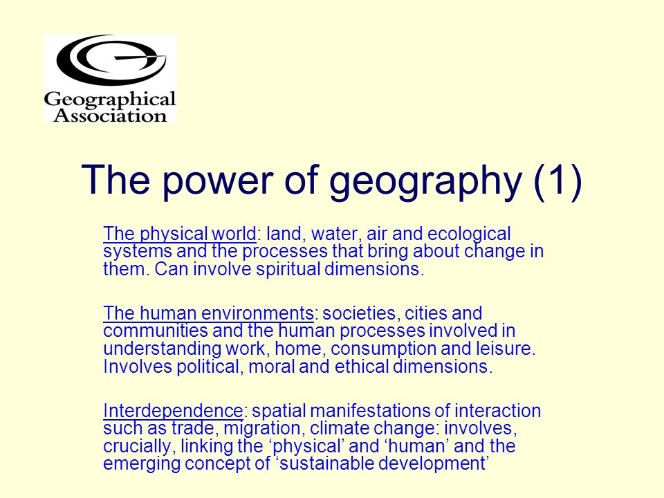 The power of geography (1)