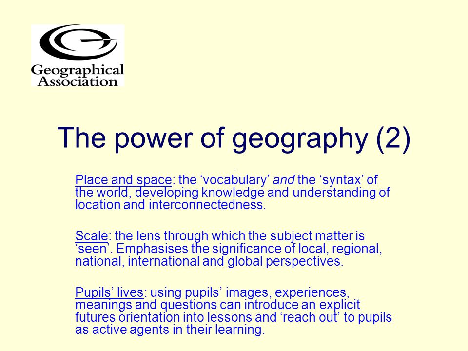 The power of geography (2)