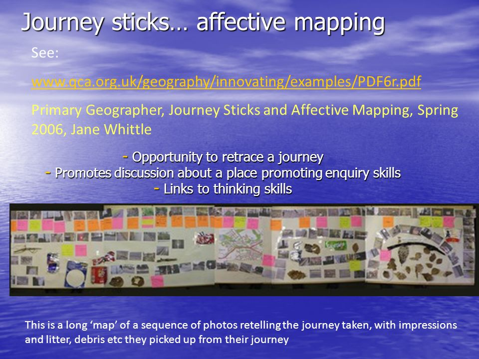 Journey sticks… affective mapping