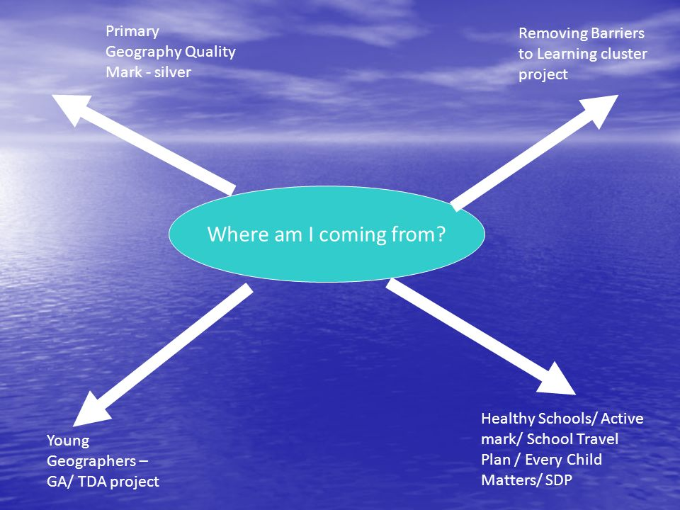 Where am I coming from Primary Geography Quality Mark - silver