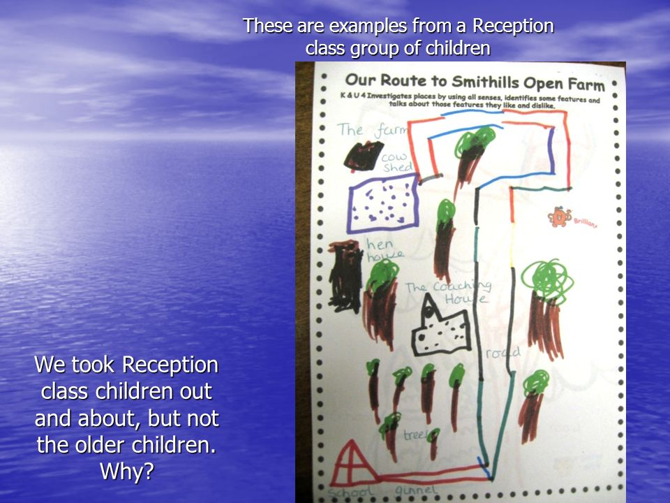 These are examples from a Reception class group of children