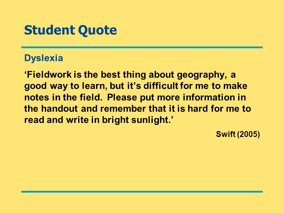 Student Quote Dyslexia