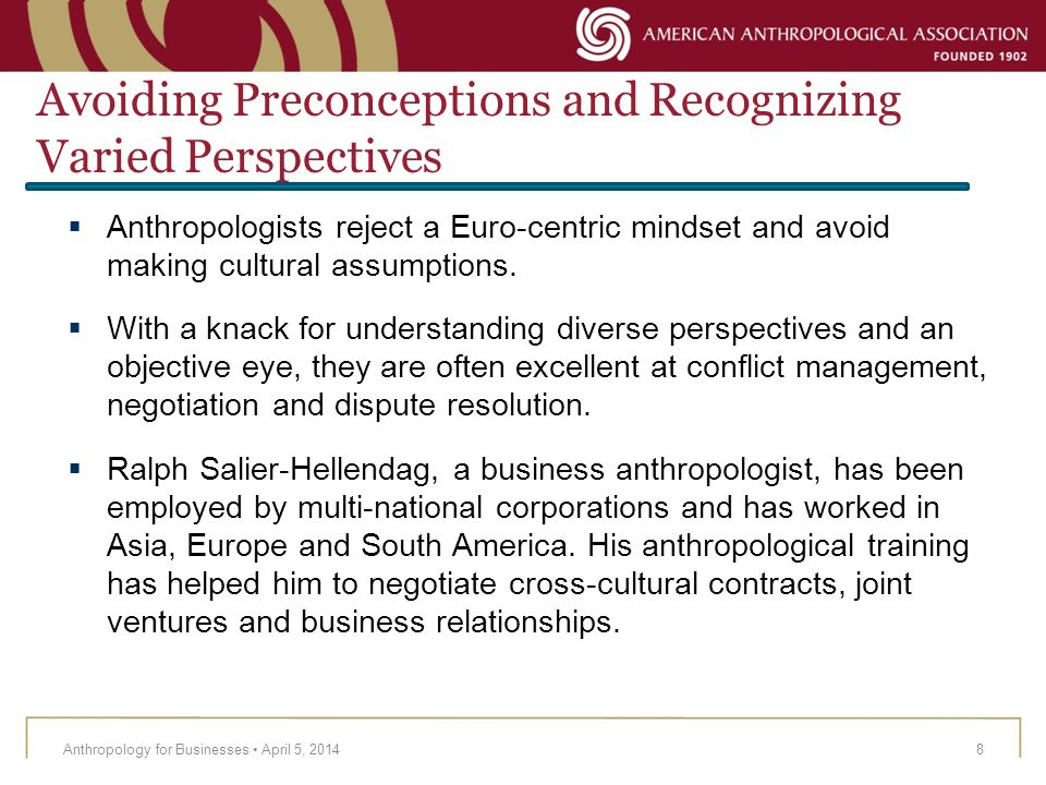 Avoiding Preconceptions and Recognizing Varied Perspectives