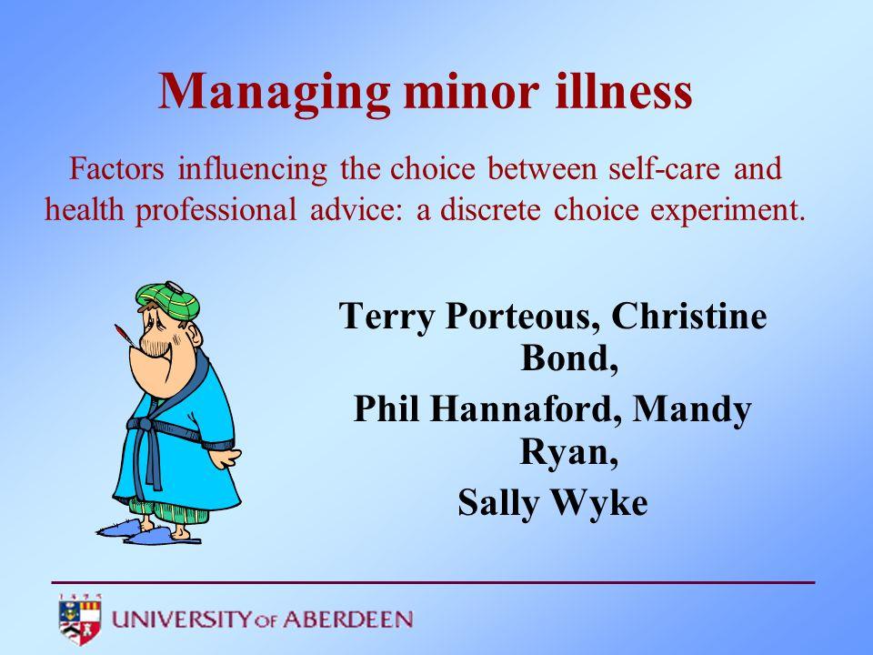 Terry Porteous, Christine Bond, Phil Hannaford, Mandy Ryan,