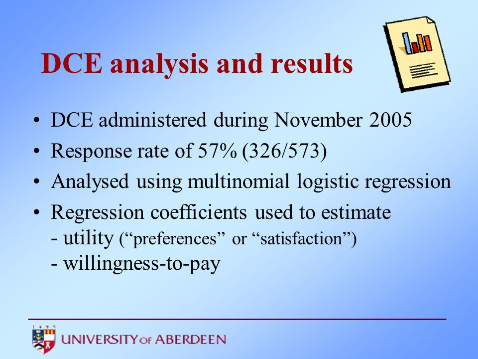 DCE analysis and results