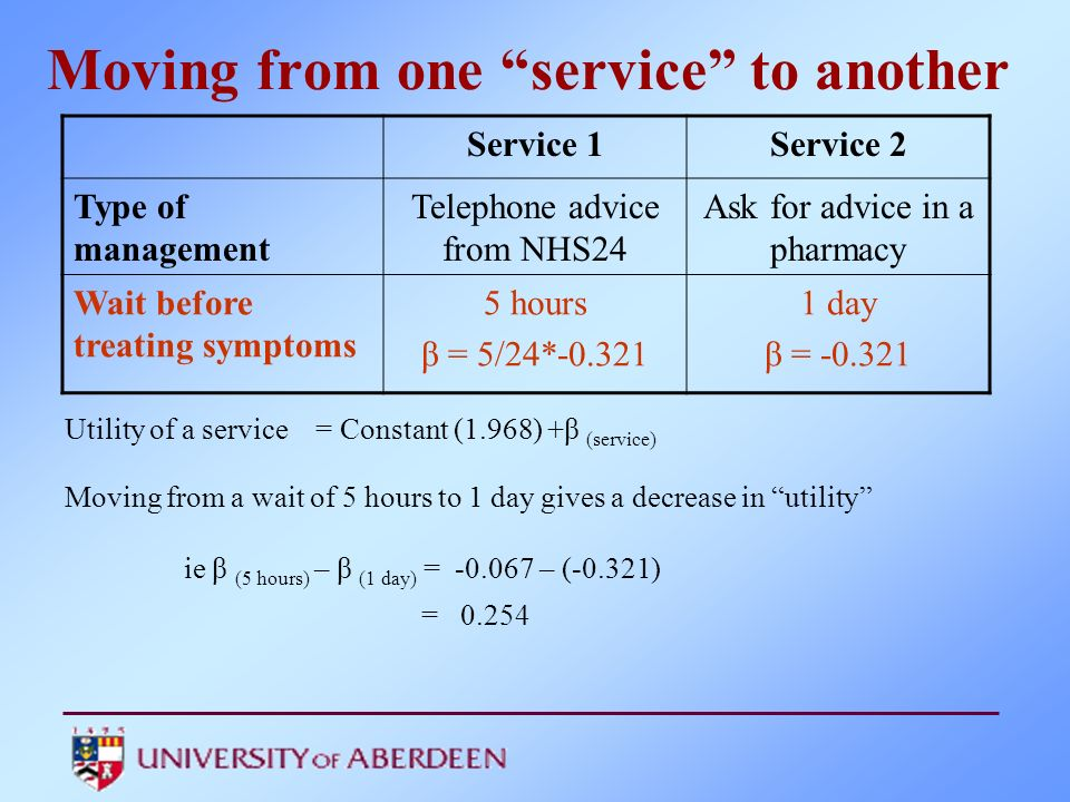 Moving from one service to another