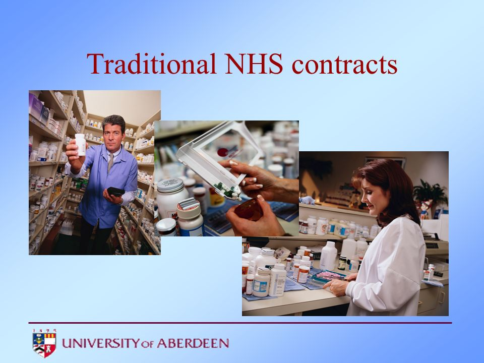 Traditional NHS contracts