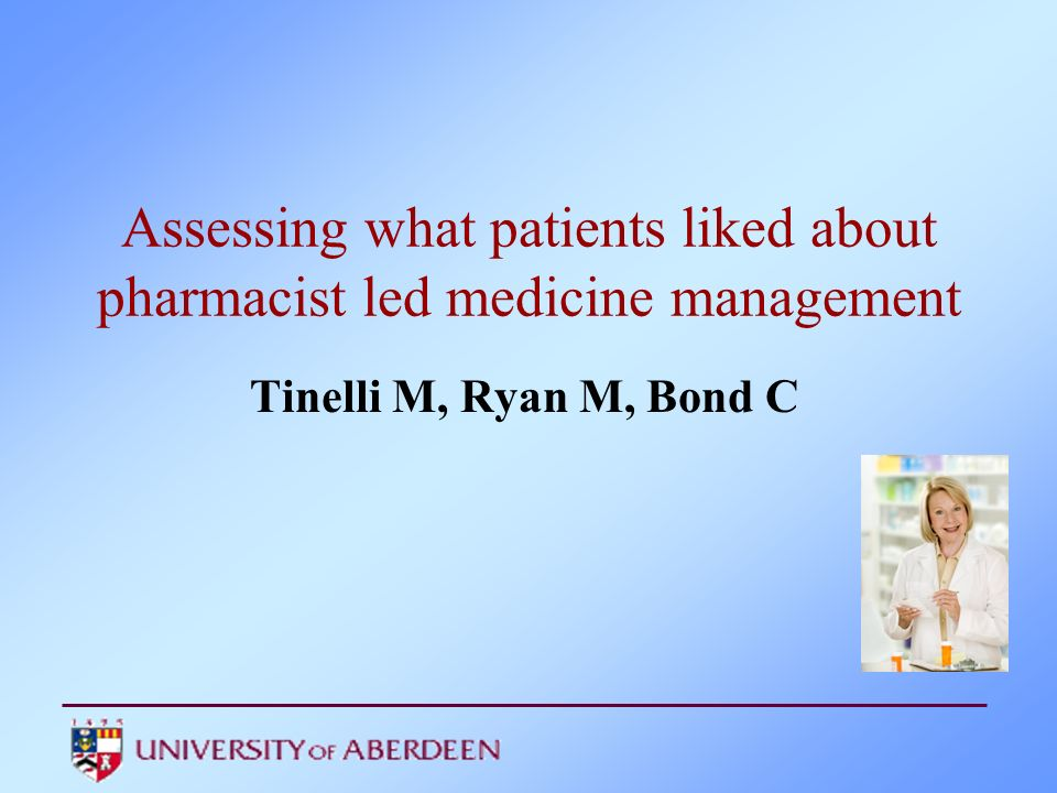 Assessing what patients liked about pharmacist led medicine management