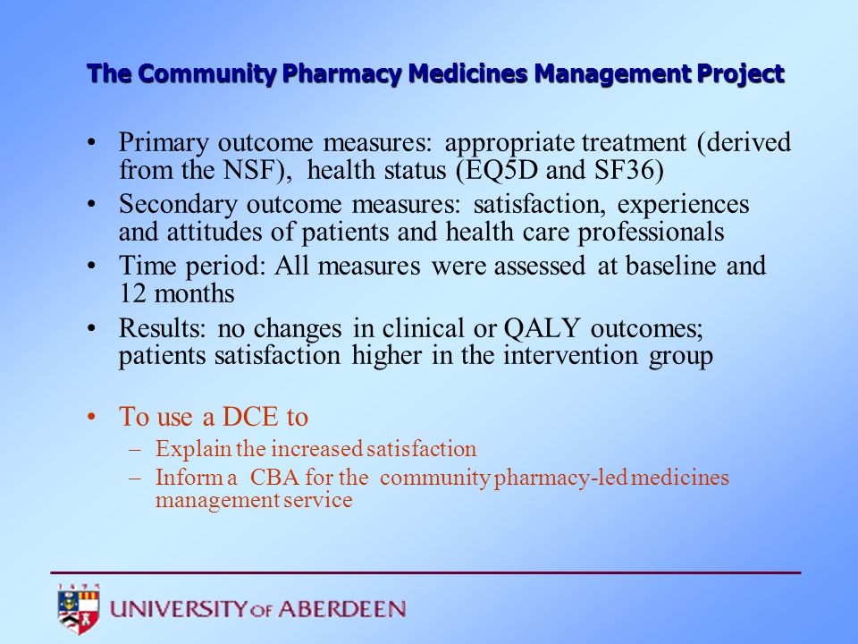 The Community Pharmacy Medicines Management Project
