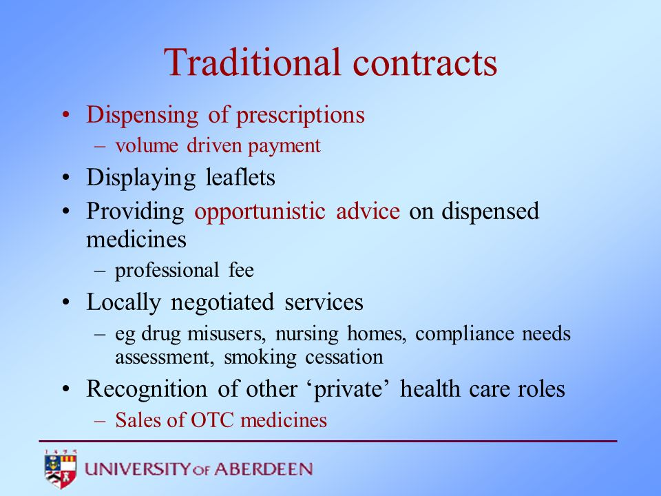 Traditional contracts
