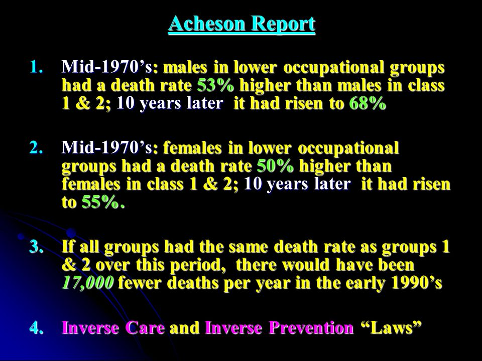 Acheson Report